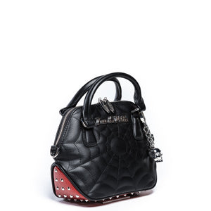 Red Rum Sparkle & Black Matte Mini Glampira Tote