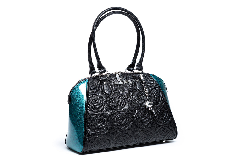 Endless Sea Sparkle & Black Matte Shotzy Tote