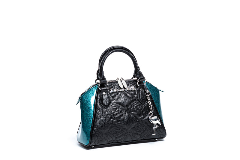 Endless Sea Sparkle & Black Matte Mini Shotzy Tote
