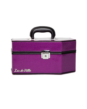 Rockwell Coffin Case Electric Purple Sparkle - Mini Atomic Totes