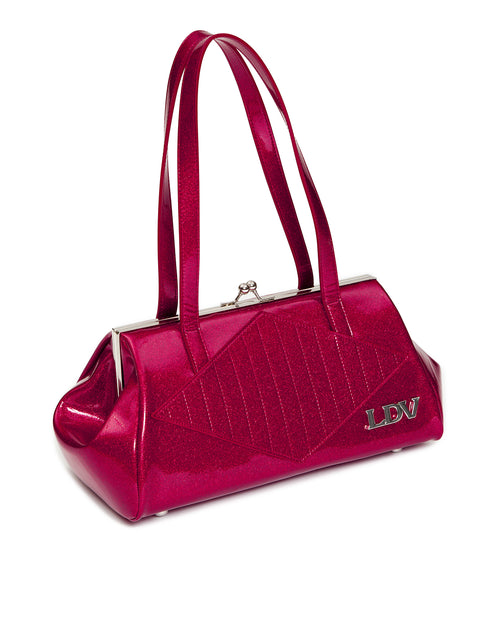 High Roller Kiss Lock Razzberry Sparkle - Mini Atomic Totes