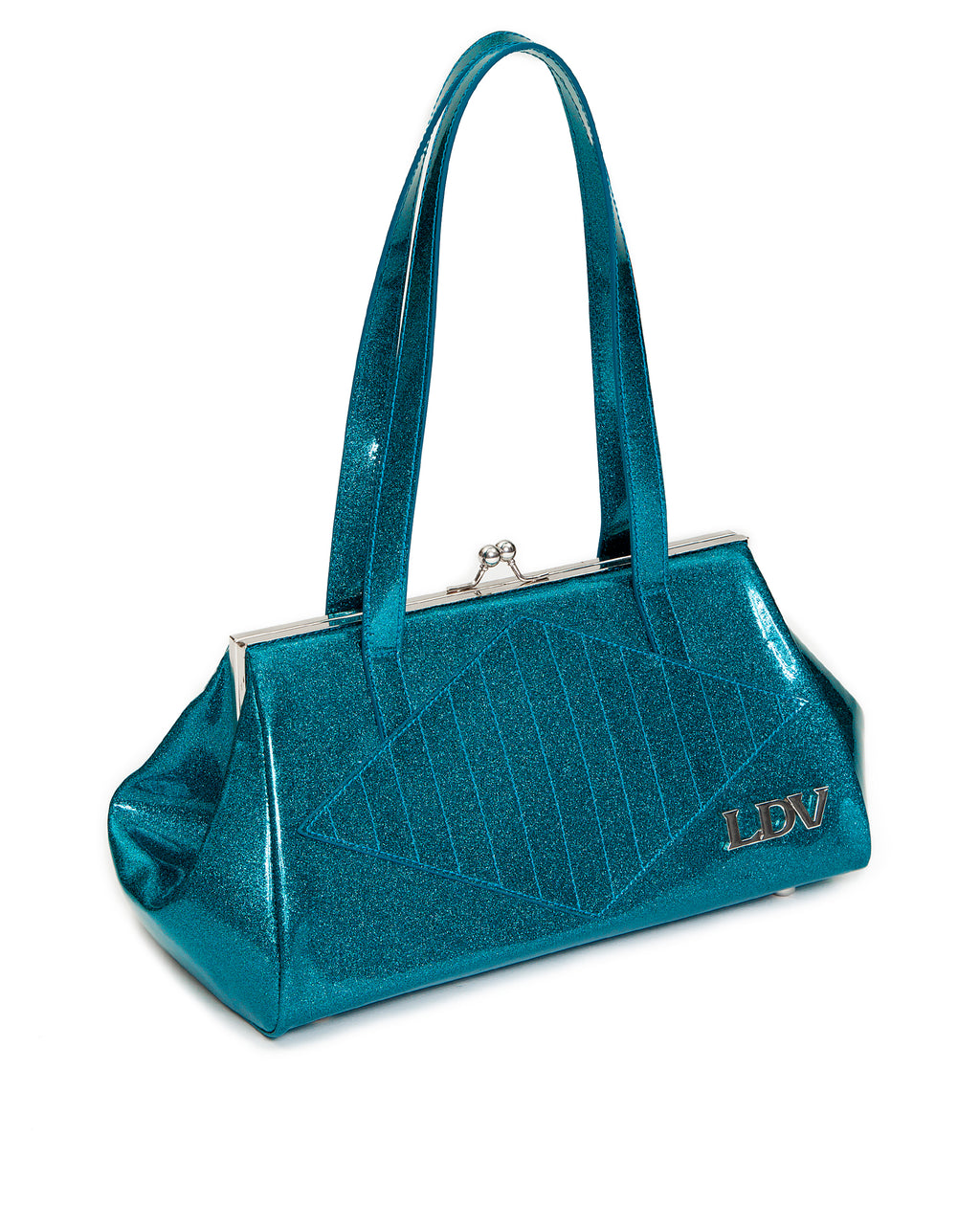 High Roller Handbag Kiss Locks Endless Sea Sparkle - Mini Atomic Totes