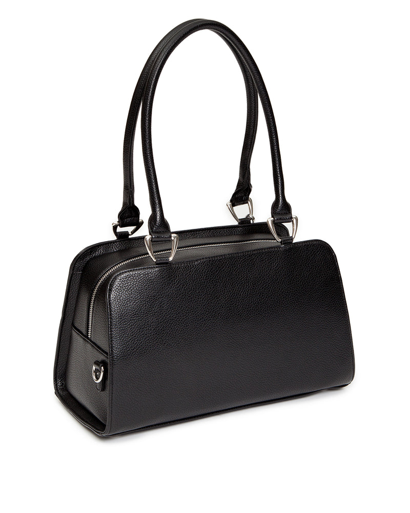 High Roller Handbag Black Matte with Endless Sea Sparkle - Mini Atomic Totes