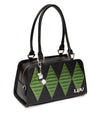 High Roller Tote Black Matte with Martini Green Sparkle - Mini Atomic Totes