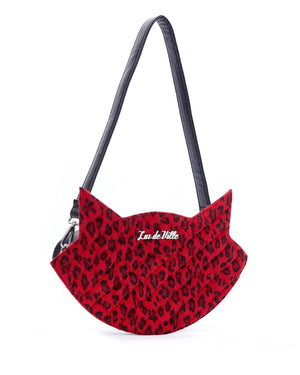 Red Leopard Meowzer Handbag - Mini Atomic Totes