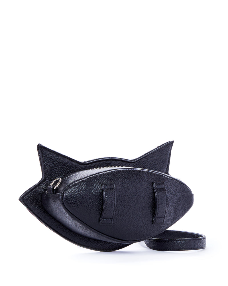 Black Matte Meowzer Sash Bag - Mini Atomic Totes