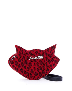 Red Leopard Meowzer Sash Bag - Mini Atomic Totes