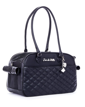 Black Matte Lux Pet Carrier - Mini Atomic Totes