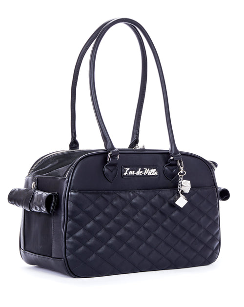 Lux Pet Carrier Black Matte - Mini Atomic Totes
