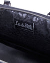 Lux Pet Carrier Black Matte and Silver Thunderstruck Sparkle - Mini Atomic Totes