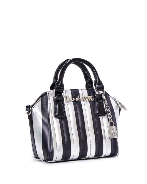 Mini Carnival Tote Silver and Black Metallic - Limited Edition