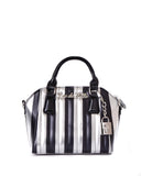 Mini Carnival Tote Silver and Black Metallic - Limited Edition - Mini Atomic Totes