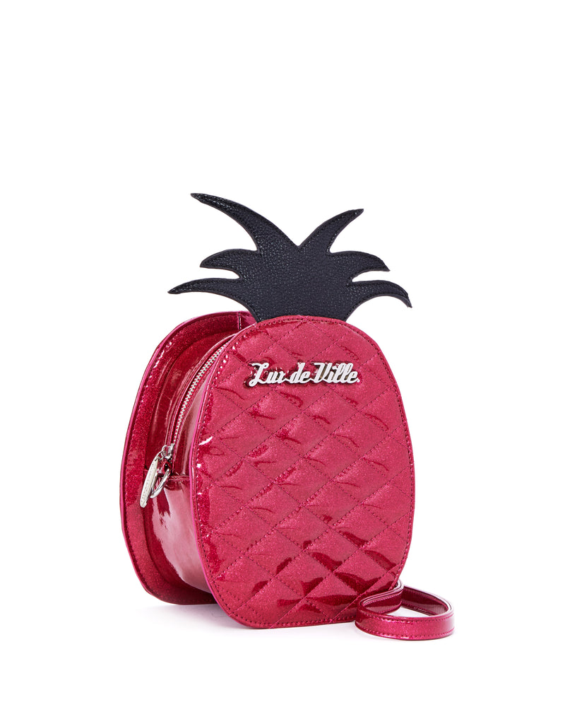 Pineapple Magic Handbag Sizzle Pink Sparkle - Limited Edition - Mini Atomic Totes