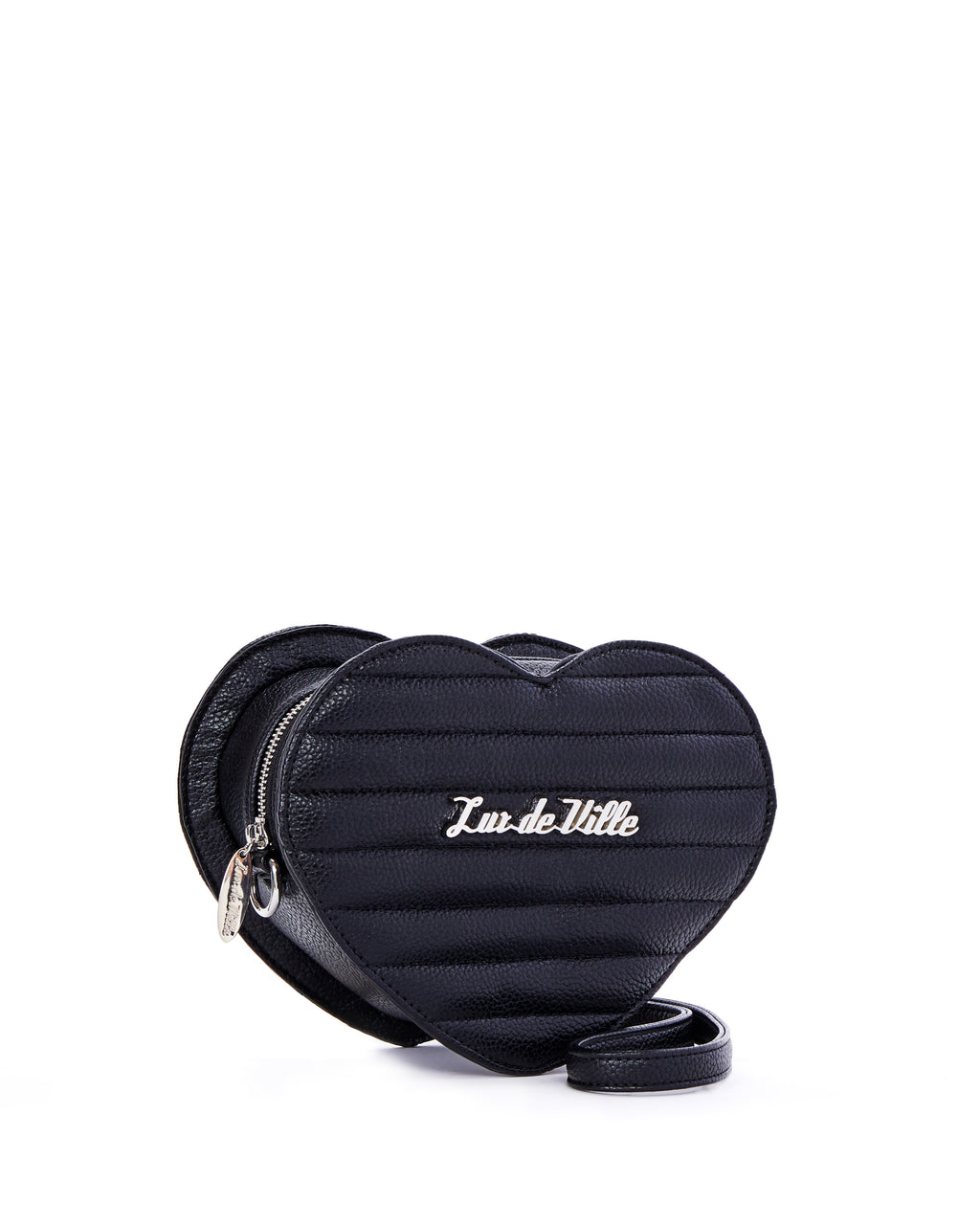 Mini Love You  Handbag Black Matte - Limited Edition - Mini Atomic Totes