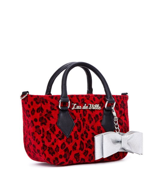 Mini Sweet Pea Tote Red Leopard - Limited Edition - Mini Atomic Totes