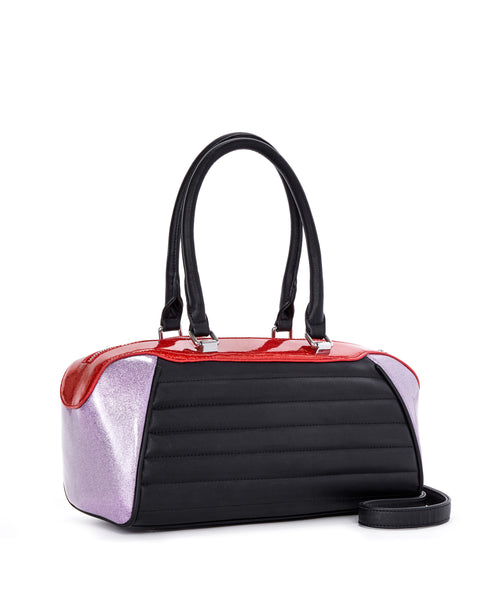 Supernova Tote Red and Lilac Sparkle - Limited Edition - Mini Atomic Totes