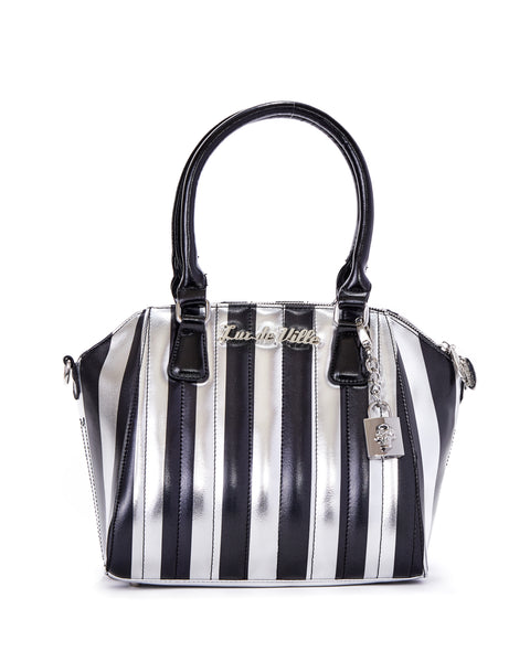 Carnival Tote Silver and Black Metallic - Limited Edition - Mini Atomic Totes