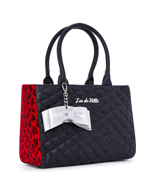 Sweet Pea Tote Red Leopard and Black Matte - Limited Edition - Mini Atomic Totes