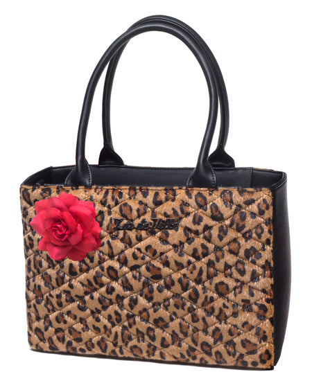 Black Dahlia Wallet Brown Leopard