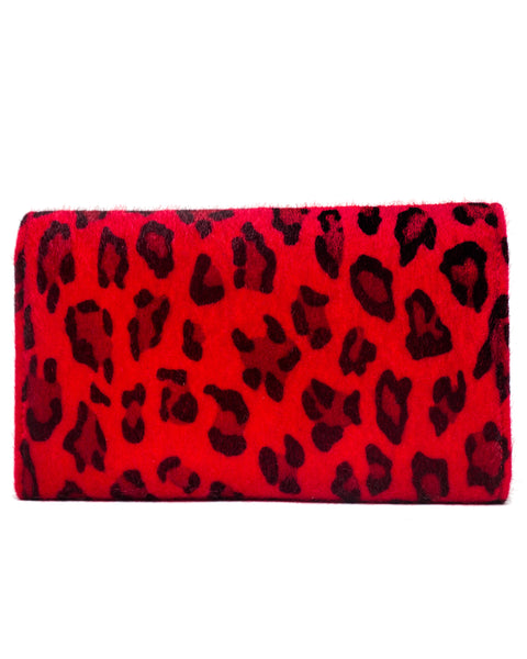 Black Dahlia Wallet Red Leopard - Mini Atomic Totes