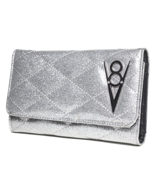 Hot Rod Wallet Silver Thunderstruck Sparkle - Mini Atomic Totes