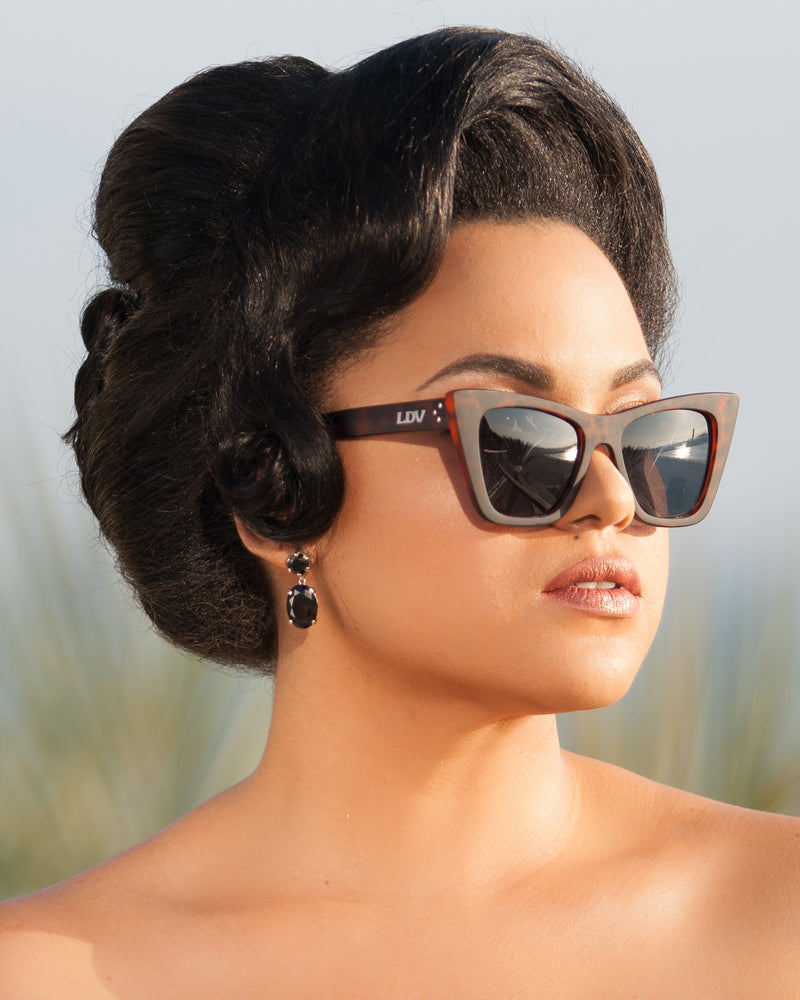 Bewitched Sunglasses Matte Tortoise Frame with Black Smoke Lens