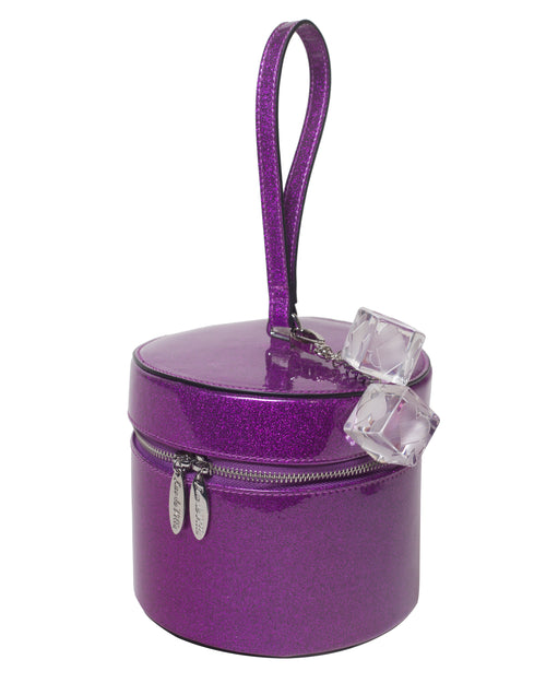 Mini Taylor Hat Box Electric Purple Sparkle - Mini Atomic Totes