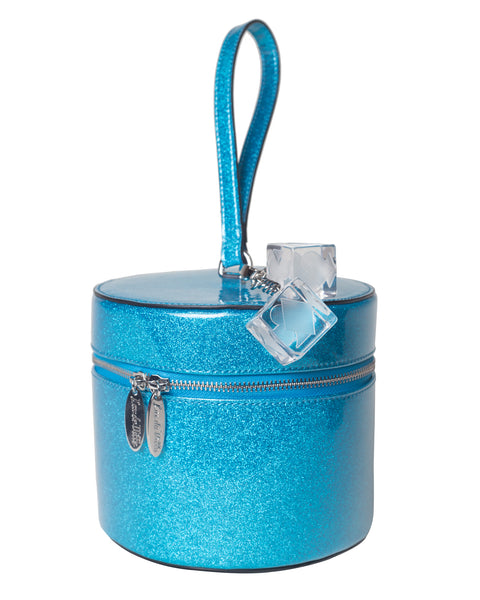 Mini Taylor Hat Box Villain Blue Sparkle - Mini Atomic Totes