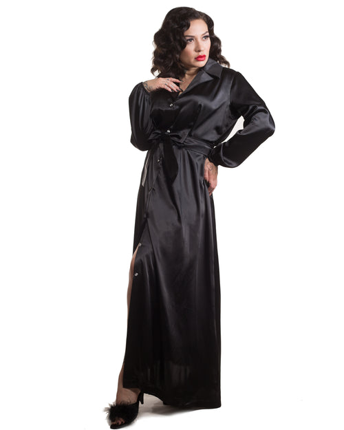 Nightcap Robe in Caviar Black - Mini Atomic Totes