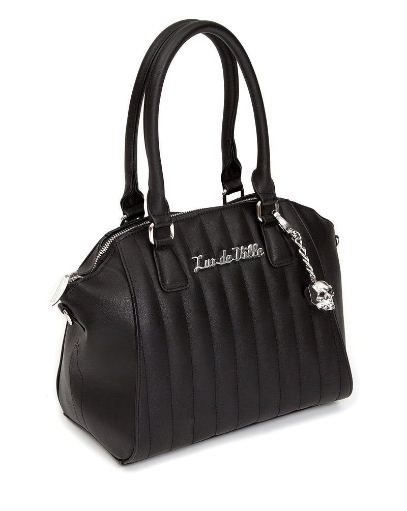 Black Matte Lady Vamp Handbag - Mini Atomic Totes