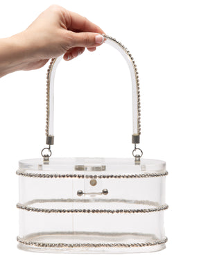 Beauty Queen Clear Lucite Purse - Mini Atomic Totes