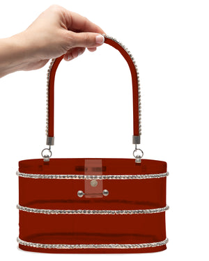 Beauty Queen Red Clear Lucite Purse - Mini Atomic Totes