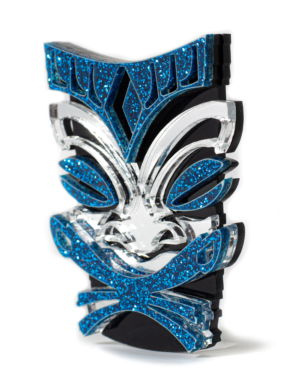 Endless Sea Sparkle Tiki Brooch Pin - Mini Atomic Totes