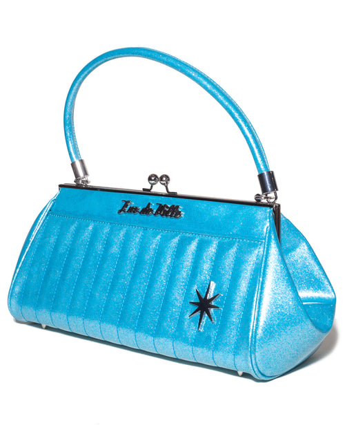 Stardust Kiss Lock Blue Sparkle - Mini Atomic Totes