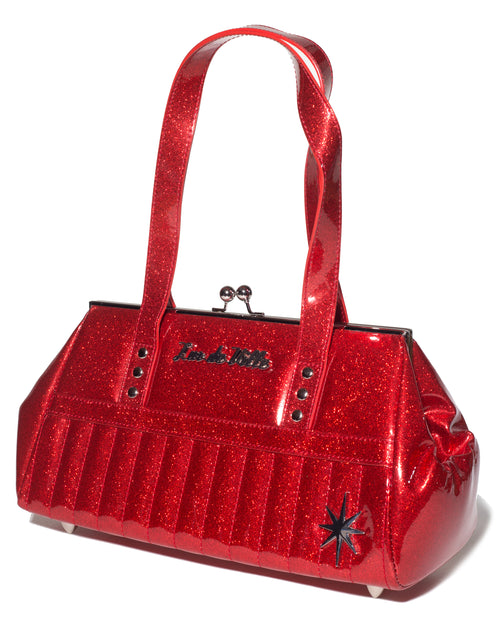 Starlite Kiss Lock Red Sparkle - Mini Atomic Totes