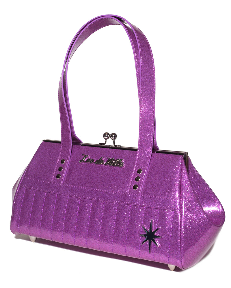 Starlite Kiss Lock Violet Sparkle - Mini Atomic Totes