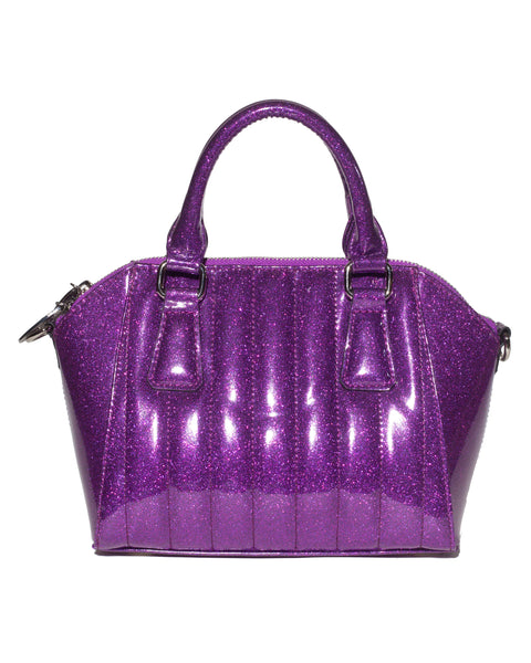 Mini Lady Vamp Tote Electric Purple Sparkle