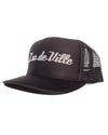 Trucker Hat Black with Silver Glitter - Mini Atomic Totes