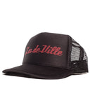 Trucker Hat Black with Red Glitter - Mini Atomic Totes