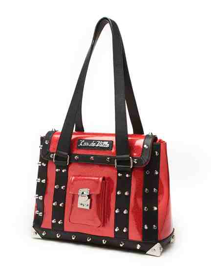 Mini Weekender Black Matte and Venom Red Sparkle - Mini Atomic Totes
