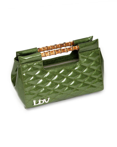 Mini Lady Vamp Tote Martini Green Sparkle