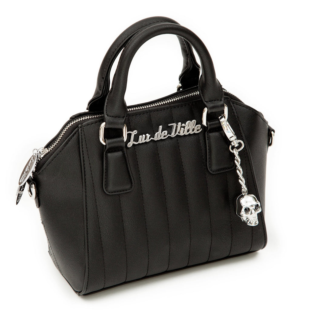 Mini Lady Vamp Handbag Matte Black - Mini Atomic Totes