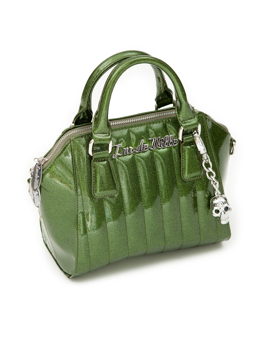 Mini Lady Vamp Handbag Martini Green Sparkle - Mini Atomic Totes