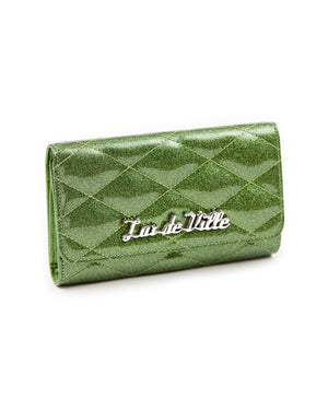 Route 66 Wallet Martini Green Sparkle - Mini Atomic Totes