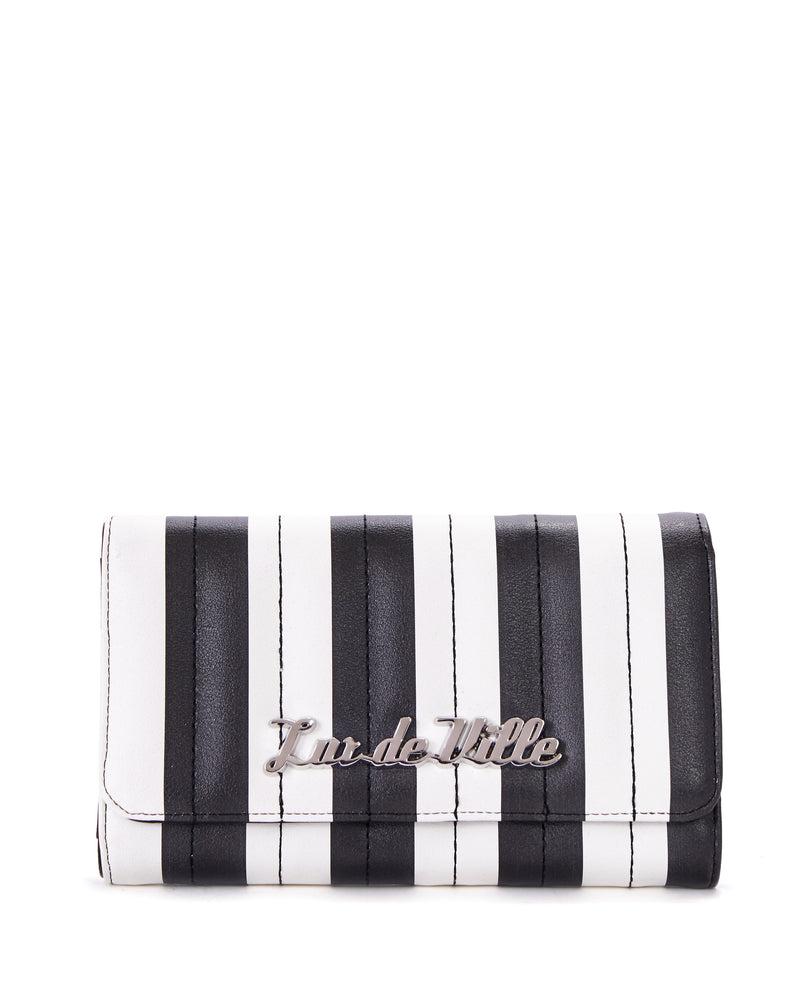Bad Reputation Wallet Black and White Matte - Mini Atomic Totes