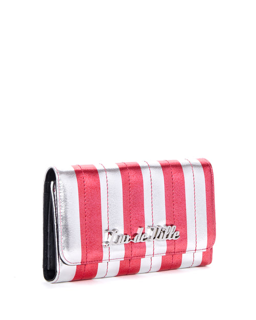 Bad Reputation Wallet Silver and Red Metallic - Mini Atomic Totes
