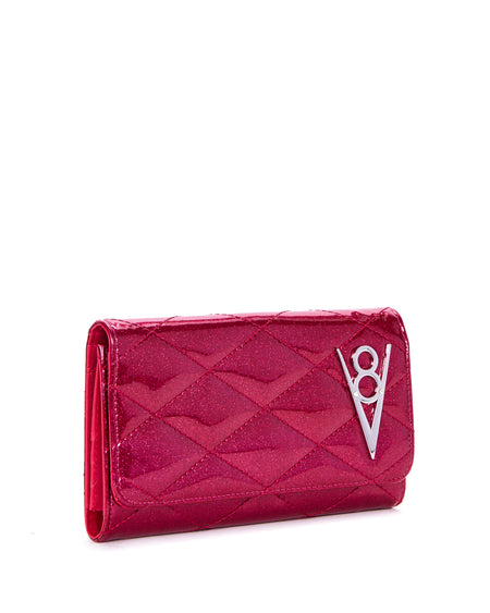 Elvira Coffin Wallet Clutch Red Leopard