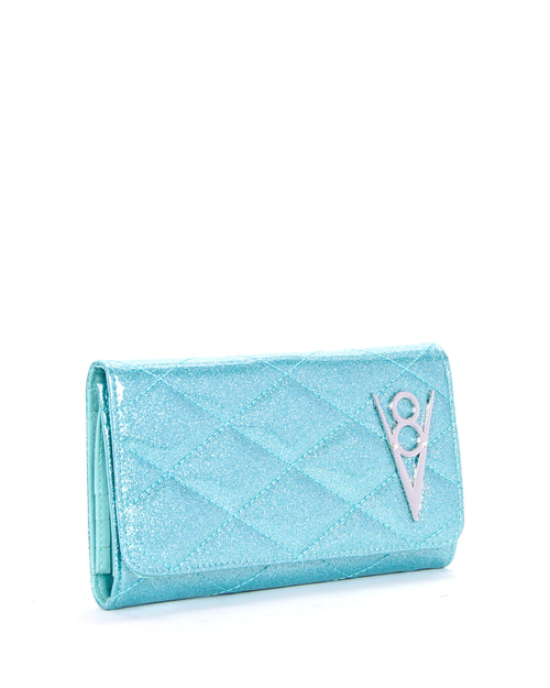 Hot Rod Wallet Mermaid Blue Sparkle - Mini Atomic Totes