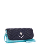 Mini Hellraiser Tote Black and Mermaid Blue Sparkle - Mini Atomic Totes