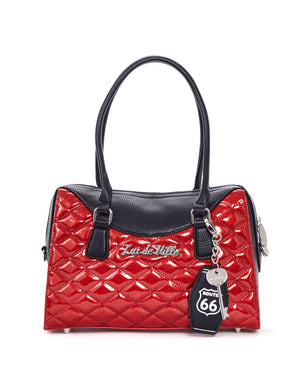 Route 66 Tote Black Matte and Venom Red Sparkle - Mini Atomic Totes